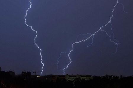 Boom! It strikes at night