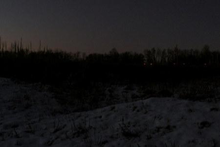 Korovka pond, November night