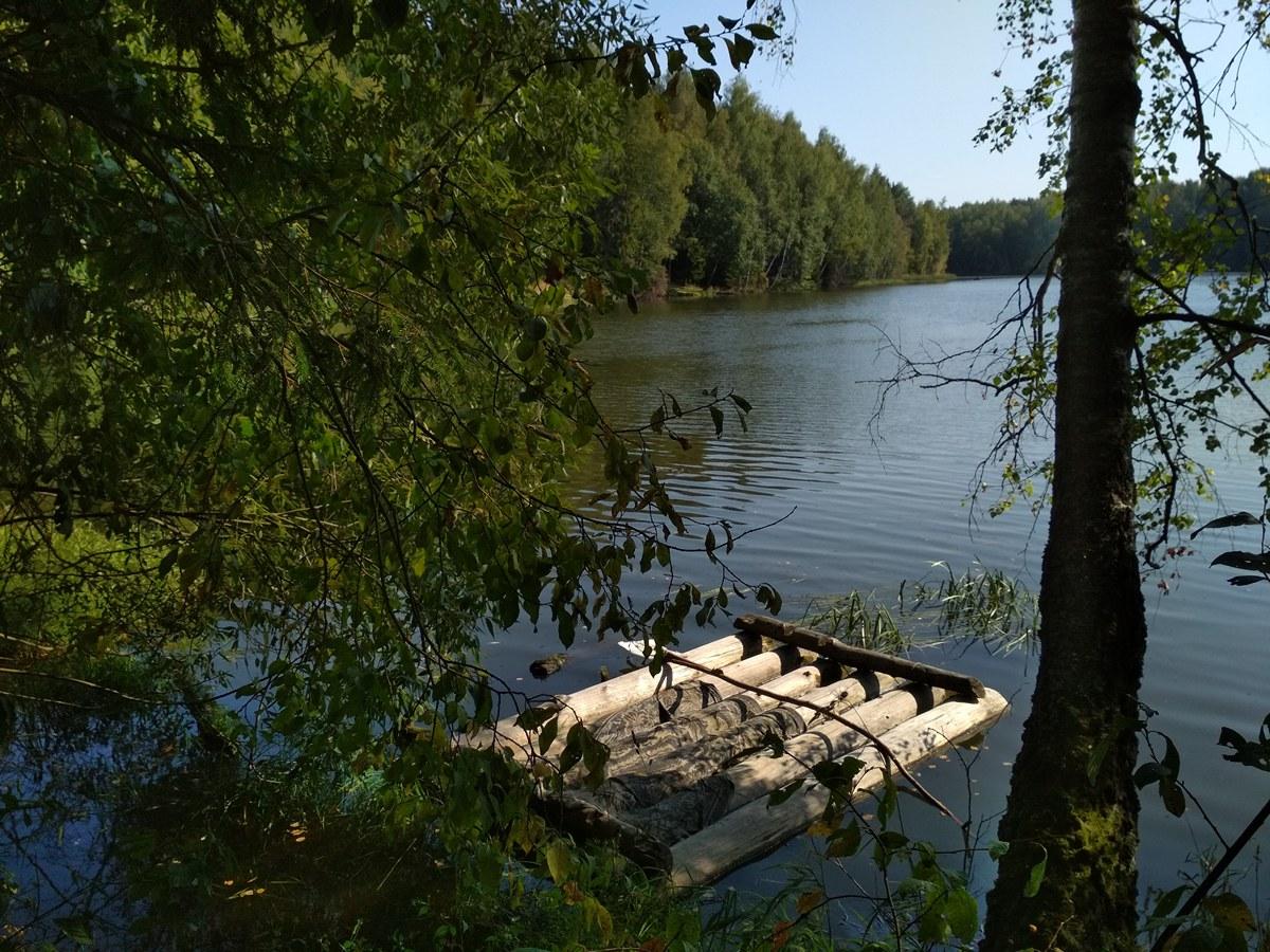 лесное озеро, сергиев посад